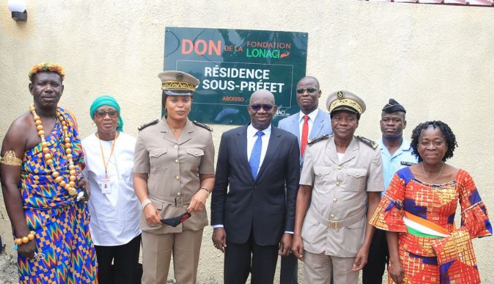 Aboisso : la fondation LONACI offre un logement au sous-préfet